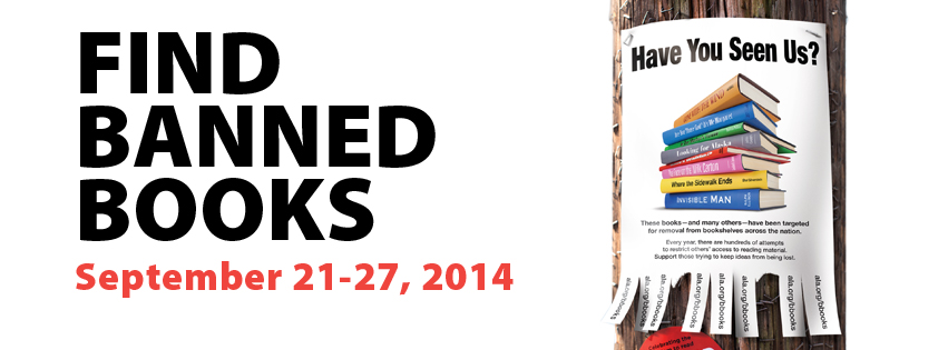 Banned Books Week, 2014, Banner, Poster, Find Banned Books