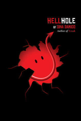 Hellhole, Gina Damico, Demon, Black, Smiley, Humour, Silly, Devil, Young Adult
