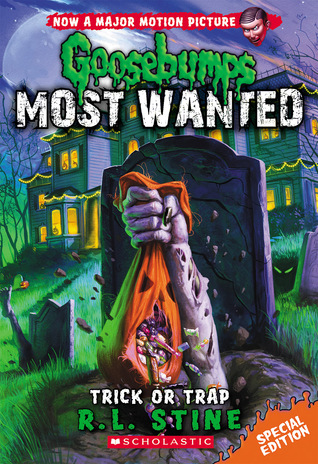 Trick or Trap, Bag, Candy, Zombie, Arm, Grave, Green Light, Houses, Night, Goosebumps, Children's Books, Horror, Pumpkin, Creepy, Goosebumps Most Wanted #Special Edition, #3, R.L. Stine