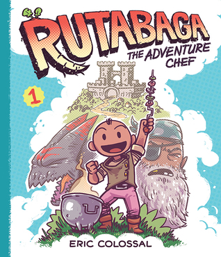 Rutabaga the Adventure Chef, Adventure Chef, Book 1, Graphic Novel, Humour, Food, Fantasy, Blue, Guy, Ruins, Food, Cooking
