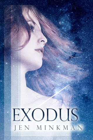 Jen Minkman, Exodus, Cover Love, Sci-Fi, Mystery, Young Adult, Dystopia, Blue Hair
