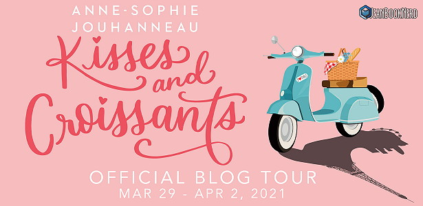 Kisses and Croissants, Pink, Scooter, Picknick basket, Young Adult, Romance, Anne-Sophie Jouhanneau