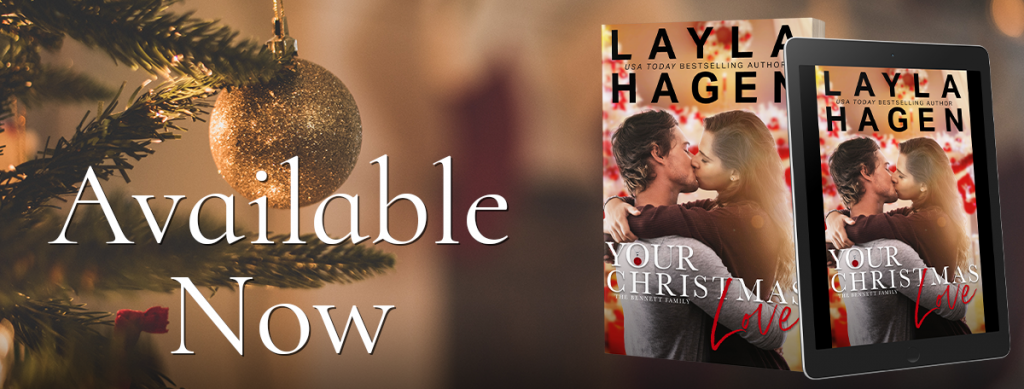 Christmas Tree, Christmas Ball, Hugging, Embrace, cover, E-reader, Girl, Boy,Your Christmas Love, Layla Hagen, Kissing,