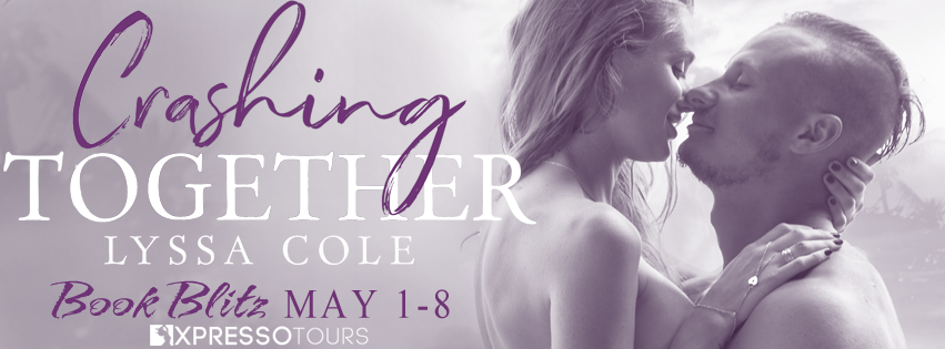 Crashing Together by Lyssa Cole, Banner, Kissing, Hugging, Gray/Purple