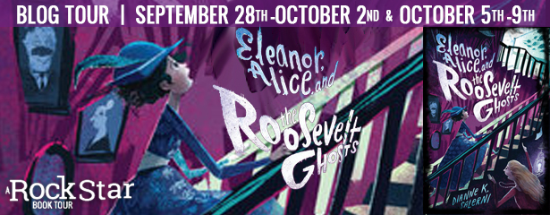 Eleanor Alice & the Roosevelt Ghosts, Stairs, Girl, Ghosts, Paranormal, Children's Books, Historical Fiction, Purple, Paintings, Mystery, New York City, Dianne K. Salerni