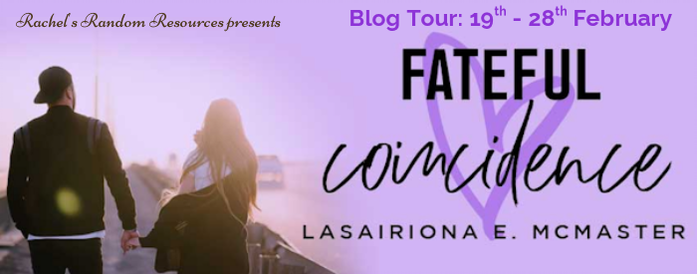 Fateful Coincidence, Lasairiona McMaster, Purple, Man, Woman,