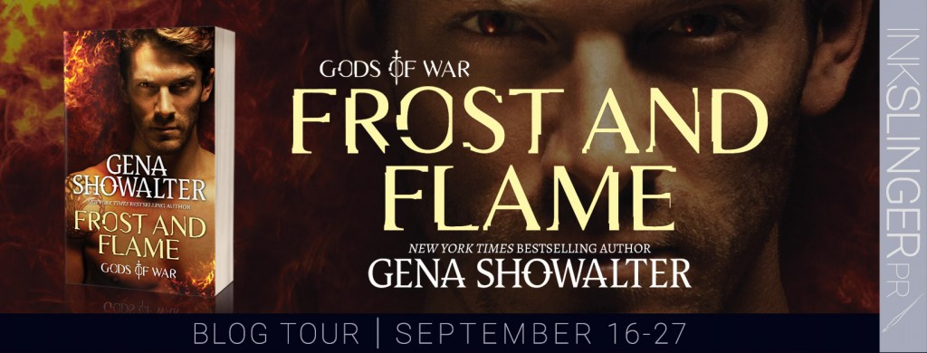 Gods of War, Frost and Flame, Torso, Red, Banner, Gena Showalter