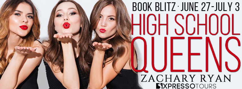 High School Queens, Three Girls blowing a kiss, Banner, Zachary Rya