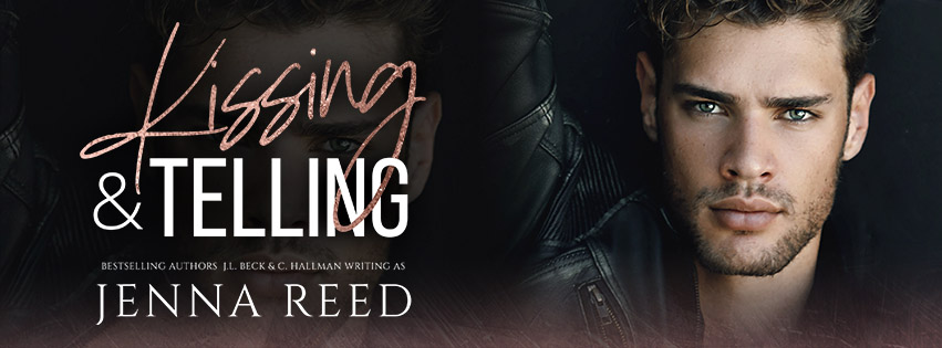 KISSING AND TELLING, Jenna Reed, Dark, Guy, Face, Banner