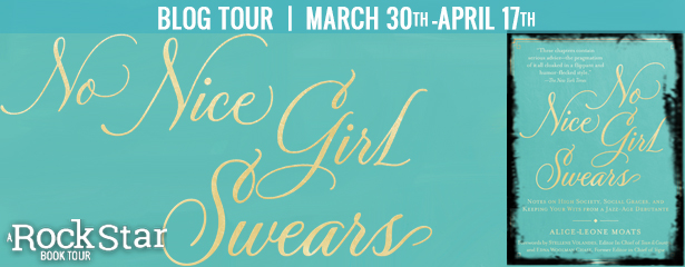 No Nice Girl Swears, Blue, Letters, Banner, Tour, Etiquette, High Society, Social Graces, Jazz-age, Alice-Leone Moats