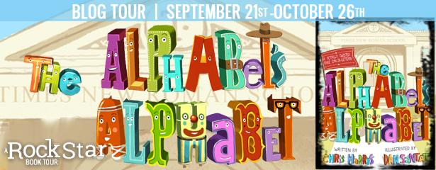 Chris Harris, Dan Santat, The Alphabets Alphabet, Colourful, Letter, Picture Book, Children's Book, Education, Fun, Tour Banner