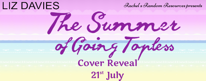 The Summer of Going Topless, Sunset, Purple Letters, Banner, Liz Davies, Romance