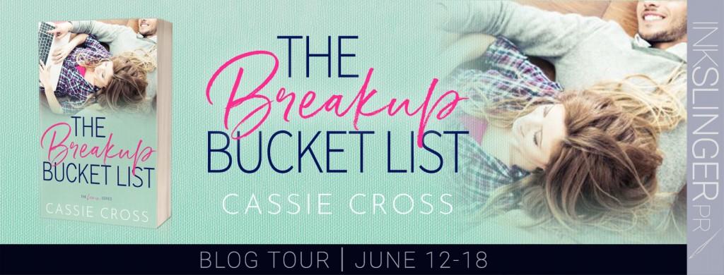 Contemporary, Woman, Man, Cover, Laptop, Green, Cassie Cross, The Breakup Bucket List, Romance, Bucket List, Banner
