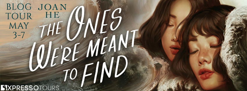 The Ones We're Meant to Find, Joan He, Girls, Waves, Clouds, Dystopia, Sci-Fi, Sisters, Cover Love, Thriller