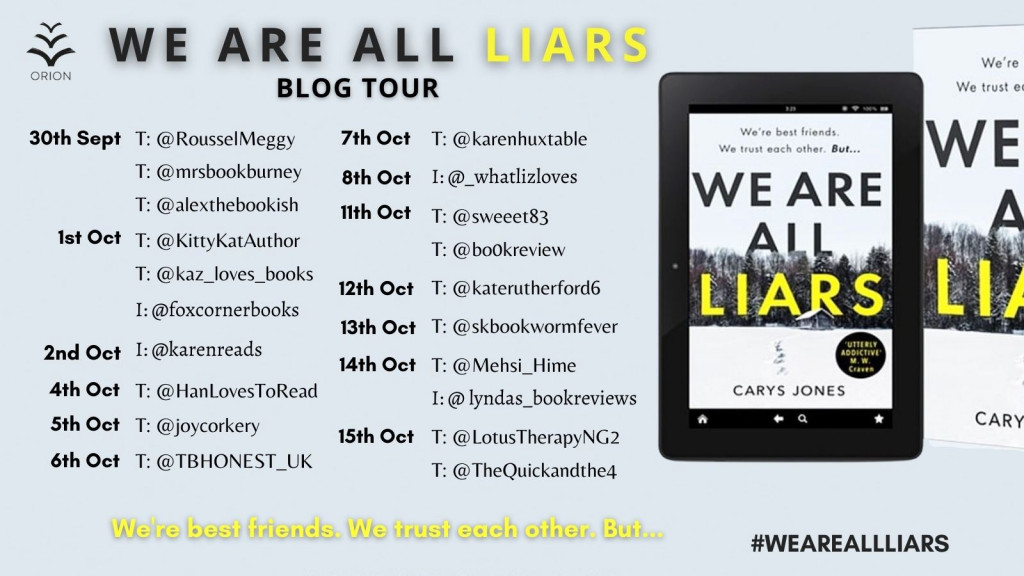 Carys Jones, Snow, Forest, We are all liars, thriller, mystery,