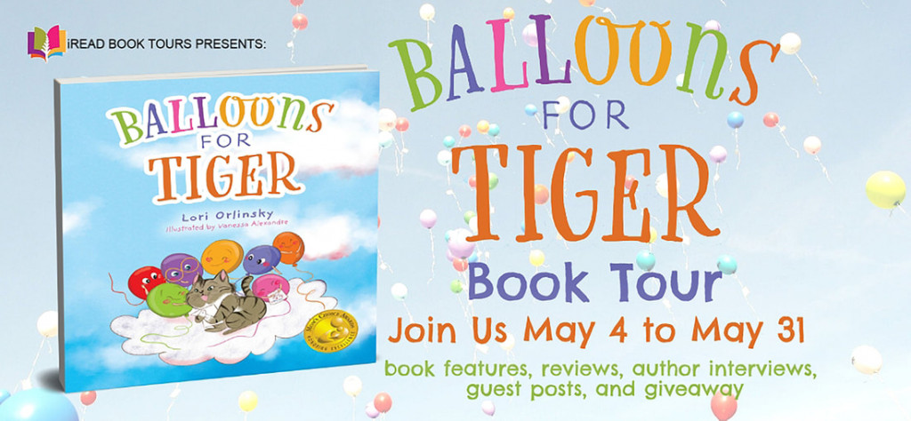 Balloons for Tiger, Lori Orlinsky, Vanessa Alexandre, Cat, Balloons, Clouds, Mourning, Loss, Picture Book, Children's Books