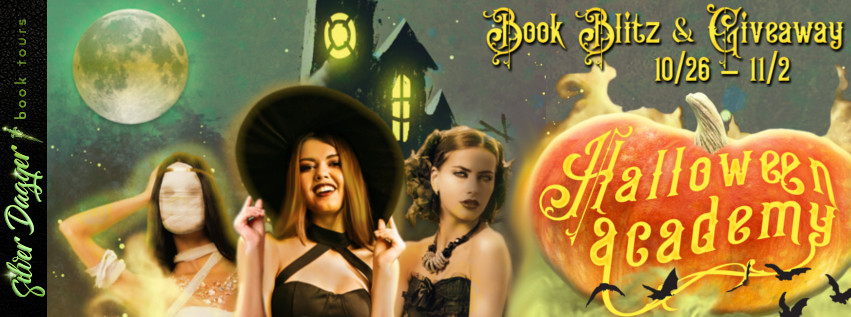 Halloween Academy, Banner, Pumpkin, Witches, Old Building, Moon, Girls, Mummy, Vampire, Kulig, Sanders