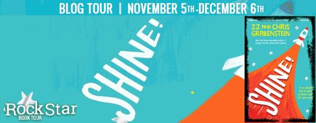 Shine!, Rocket, Orange, Stars, Blue, J.J. Grabenstein, Chris Grabenstein