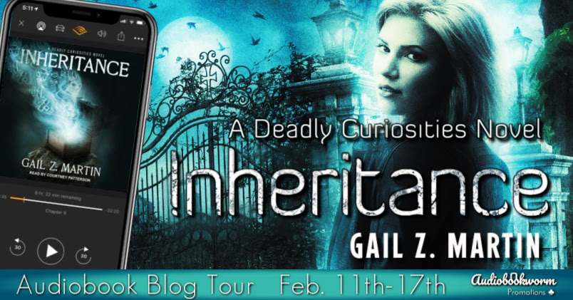 Deadly Curiosities, Inheritance, Blue, Girl, Phone, Moon, Fence, Ghosts, Paranormal, Gail Z. Martin