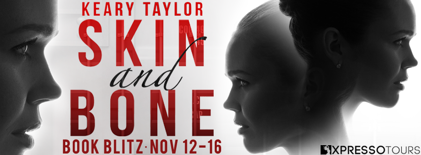 Skin and Bone, Girls, Black and white, faces, red letters, banner, Keary Taylor
