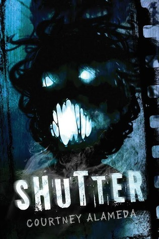 Courtney Alameda, Shutter, Face, Black, Blue, Horror