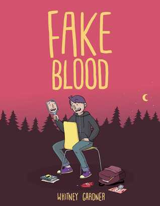 Fake Blood, Boy, Forest, Red, Vampire, Graphic Novel, Young Adult