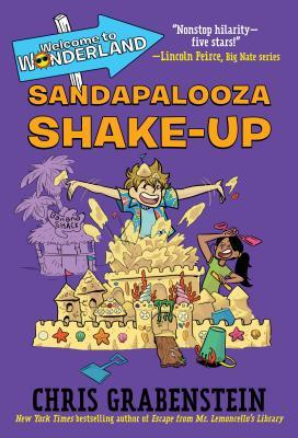 Sandapalooza Shake-up, Chris Grabenstein, Purple Cover, Mystery, Who's your daddy?, Welcome to Wonderland, Children's Books