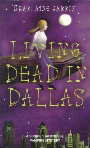 Living Dead in Dallas, Coffin, Flying, Moon, Purple Cover, Charlaine Harris, Vampires, Romance