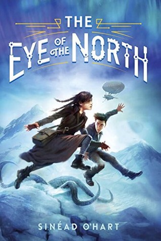 The Eye of the North, Blue cover, People jumping, tentacles, mountains, Sinéad O'Hart, Children's Books