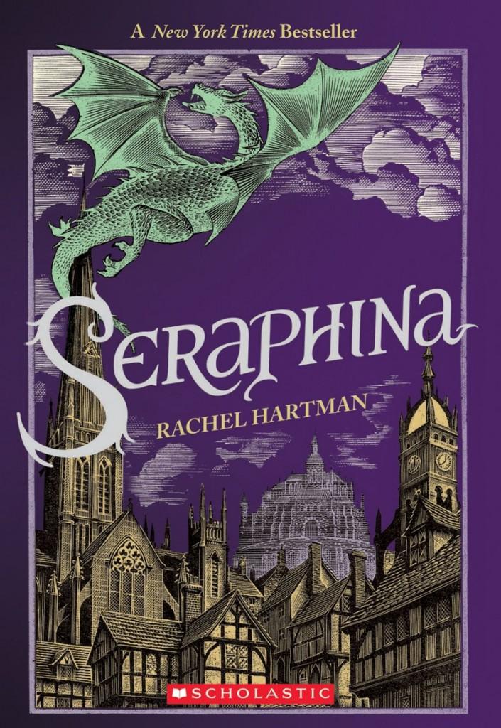 Seraphina, Rachel Hartman, Dragon, City, Purple Cover, Clouds