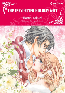 Sophie Pembroke, The Unexpected Holiday Gift: Harlequin Manga, Cover, Red, People hugging, Kiss, Romance,
