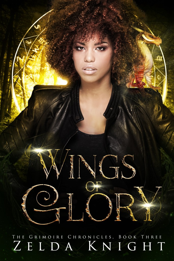 Zelda Knight, Woman, Yellow/Black Cover, Red Dragon, WINGS OF GLORY (The Grimoire Chronicles #3)