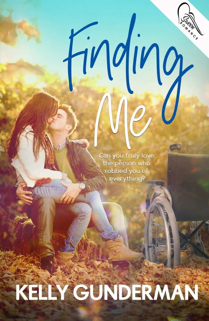 Finding Me, Kelly Gunderman, Wheelchair, Hugging, kissing, Soft colours