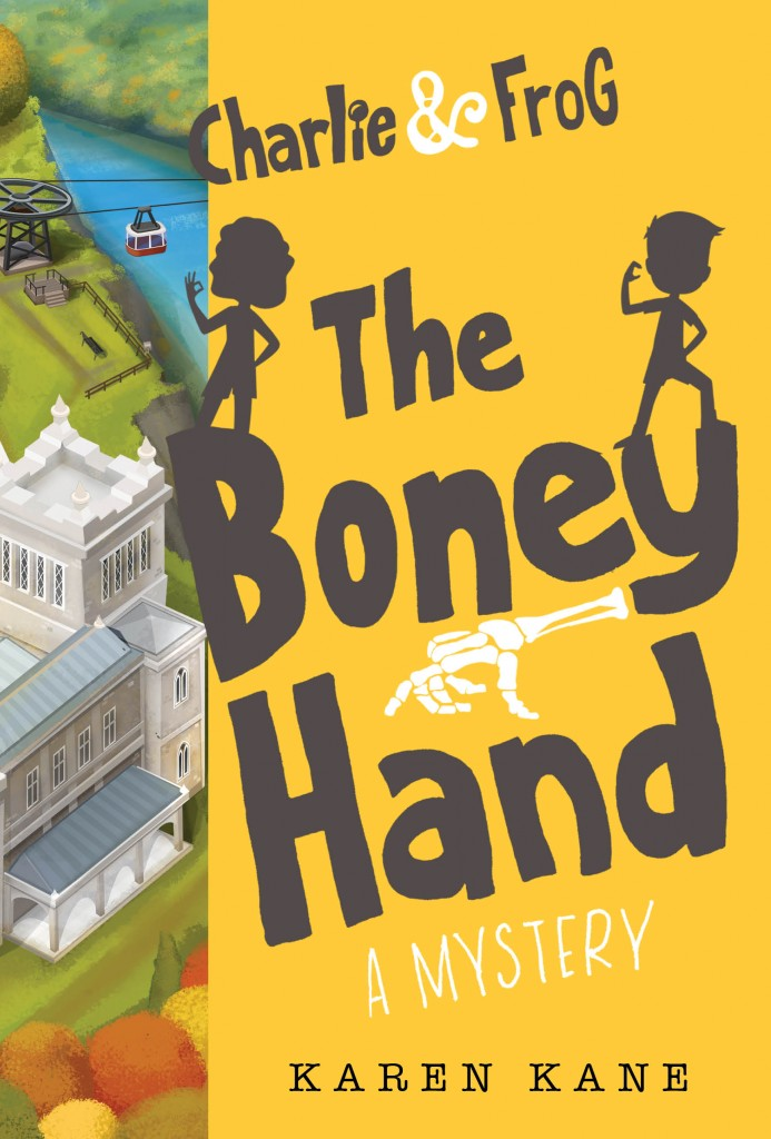 CHARLIE & FROG THE BONEY HAND, Cover, Silhouettes, Yellow Cover, Building, Karen Kane