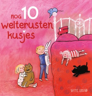Pink/Red, Twins, Big Bed, Nog 10 welterustenkusjes, Jeske Verstegen, Children's Book, Going to Bed, Picture Book
