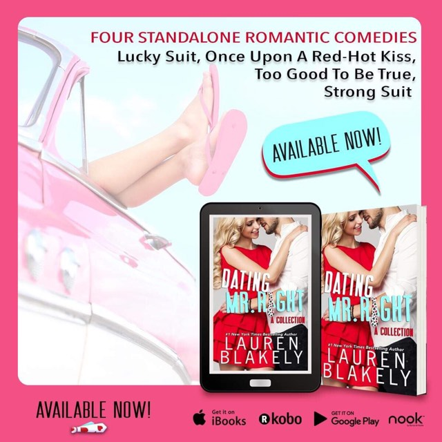 Dating Mr. Right, Lauren Blakely, Teaser, Pink, Hugging, Red Dress