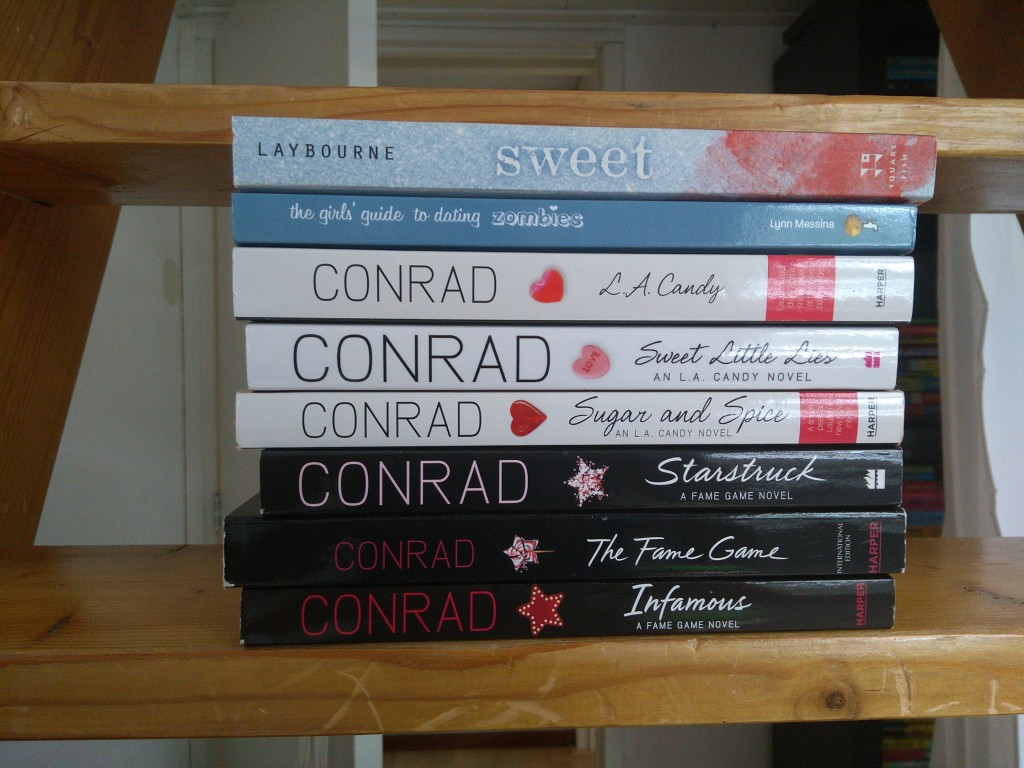 Vacation TBR, Stack of books