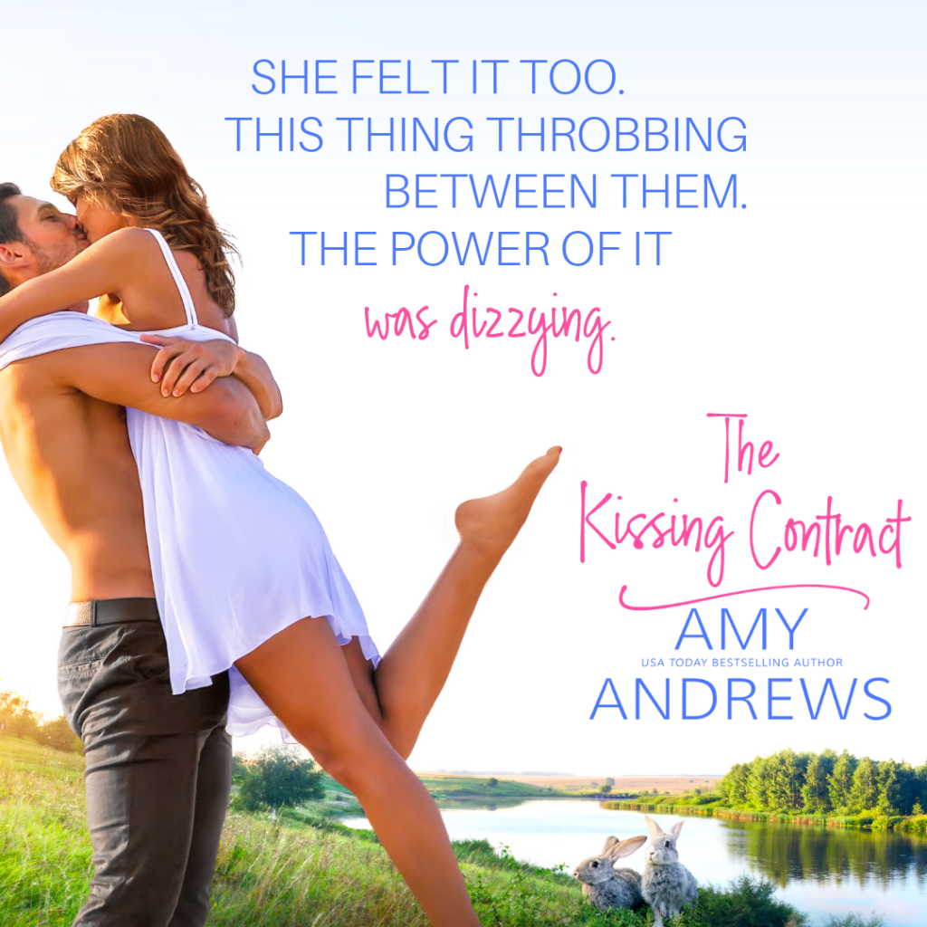 Hugging, White Dress, Bare Chest, Romance, Teaser, The Kissing Contract, Amy Andrews