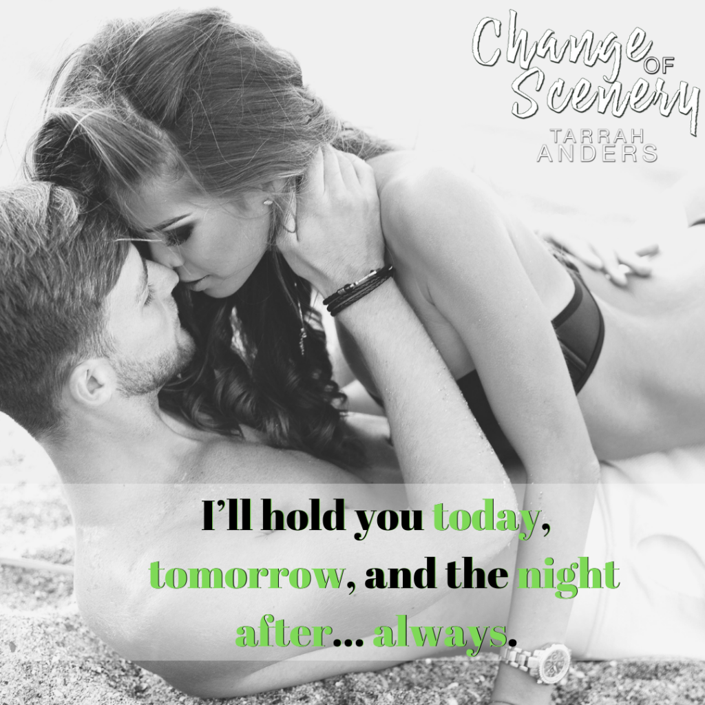 Change of Scenery, Two people in sand hugging, Tarrah Anders, Grey, Teaser