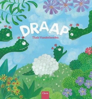 Draap, Thaïs Vanderheyden, Dragon, Sheep, Green, Flowers, Grass, Children's Book, Picture Book