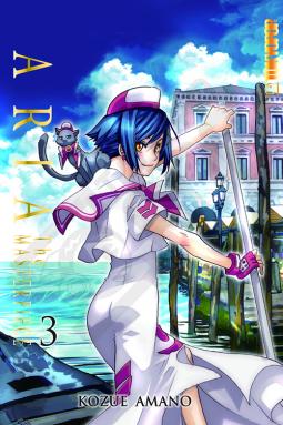 Kozue Amano, Aria: The Masterpiece, Venice, Blue, Aika, Undine, Cat, Manga,
