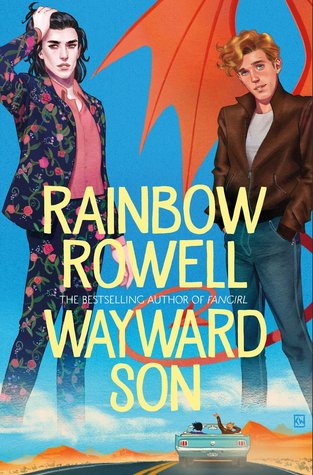 Wayward Son, Blue, Wings, Suits, Roadtrip, Car, Road, Clouds, Rainbow Rowell, Young Adult, LGBT