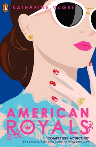 American Royals, Katherine McGee, Nail Art, Sunglasses, Earrings, Pink Letters, Blue