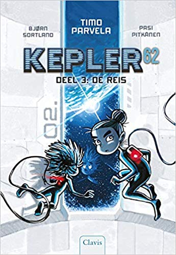 Kepler62, Blue, White, Space, Floating, Boy, Girl, Children's Books, Kepler62 deel 3, de reis, sci-fi