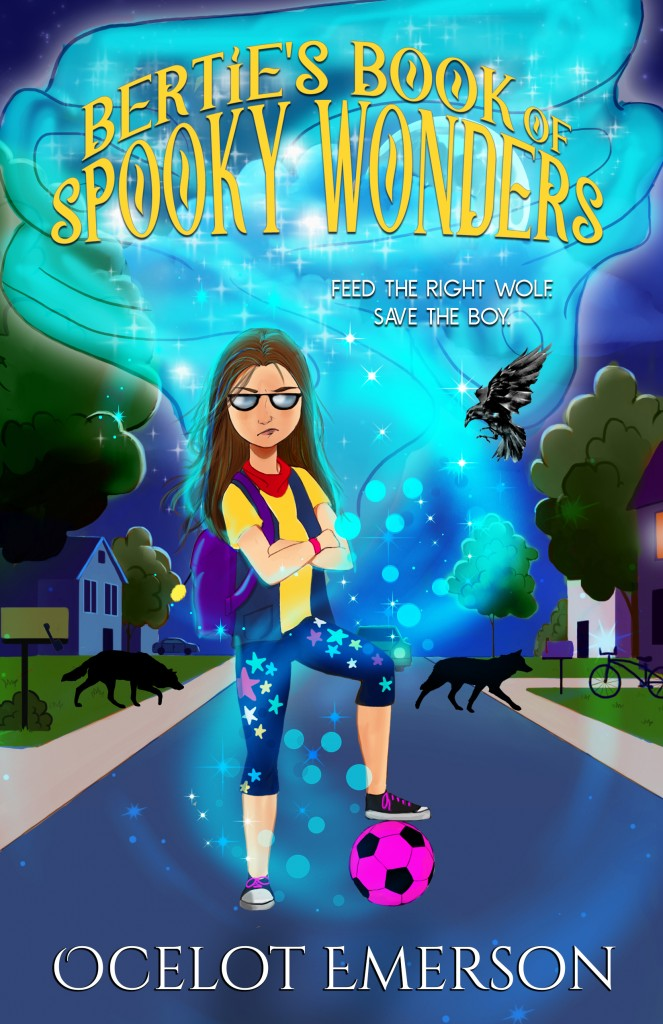 Bertie's Book of Spooky Wonders, Ocelot Emerson, Blue, Girl, Pink Ball, Street, Children's book, Magic