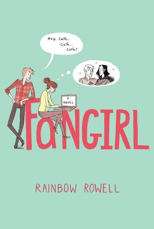 Fangirl, Rainbow Rowell, Young Adult, Green, Pink Letters, Guy, Girl, Laptop