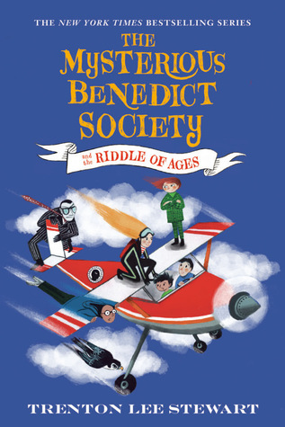 The Mysterious Benedict Society, Trenton Lee Stewart, Blue, Plane, Children, Boy, Girl, Sky, Cloud, Mystery,The Mysterious Benedict Society and the Riddle of Ages