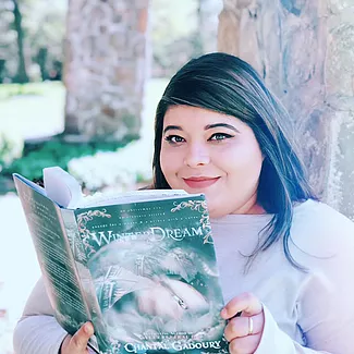 Chantal Gadoury, Writer, White Shirt, Book, Reading, Author, Photograph, Winter Dream