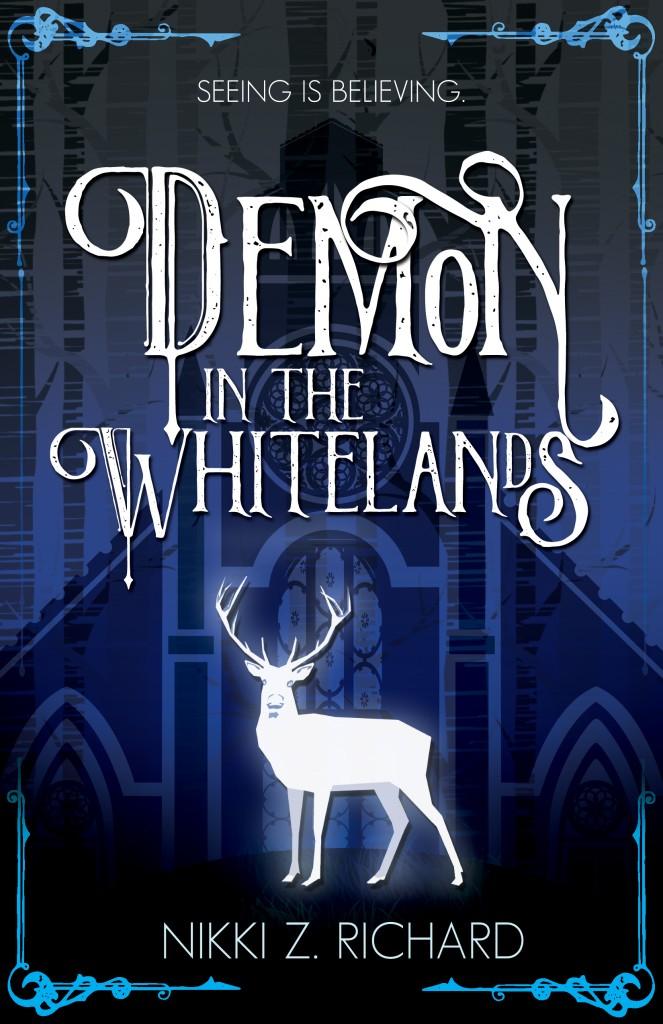 Demon in the Whitelands, Blue, Forest, Deer, Nikki Richard