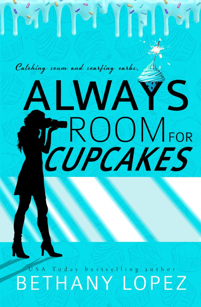 Always Room For Cupcakes, Bethany Lopez, Blue, Silhouette